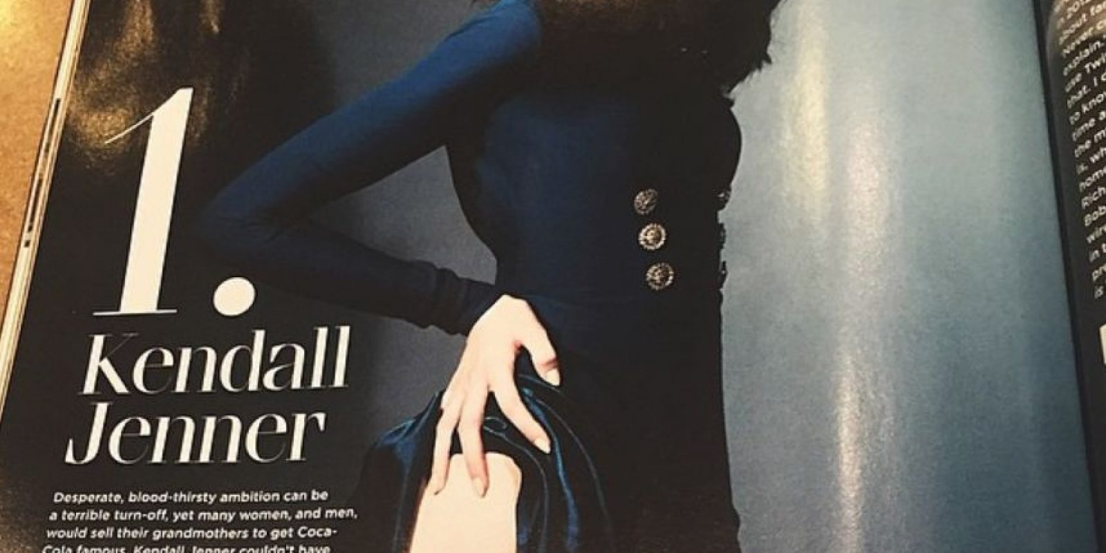 Es el rostro de Estee Lauder. Foto:Kendall Jenner/Instagram