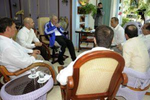 Castro, de 88 años, esperaba mucho dicho encuentro. Foto:granma.cu / Estudio Revolución