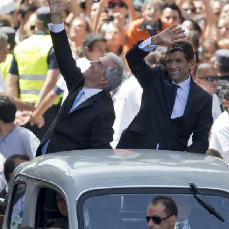 Tabaré y el vicepresidente Raúl Sendic. Foto:AP