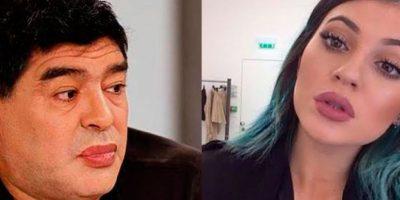 Las burlas en Internet al nuevo look de Maradona con la boca pintada