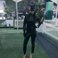 "Ana Ivanović con su disfraz de ""Catwoman"". Foto:twitter.com/AnaIvanovic"