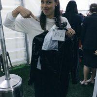 Ana cuando recogió su disfraz. Foto:twitter.com/AnaIvanovic