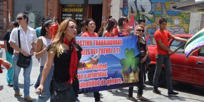 FOTOS. Protesta de trabajadoras sexuales frente al Congreso