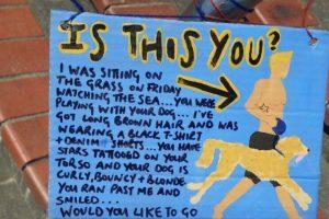 El letrero dio resultado, pues el hombre que se buscaba apareció. Foto:Vía Facebook: Beachcomber-Fun-Cruises