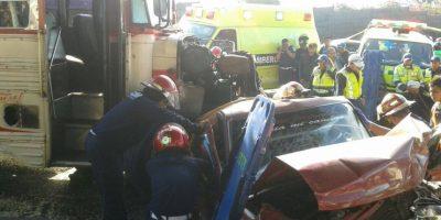 Accidente múltiple complicó tránsito por varias horas