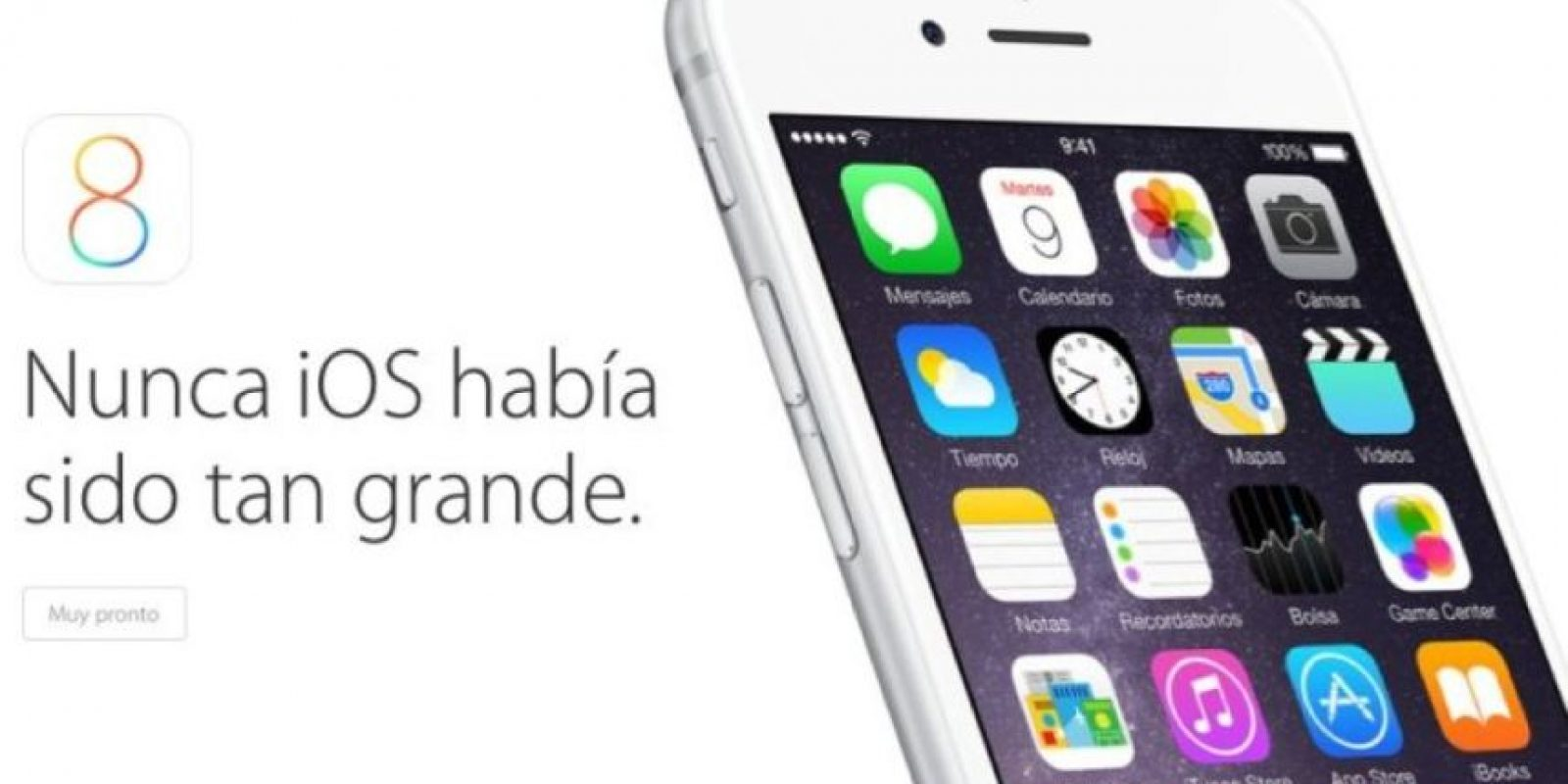 iOS 8 de Apple Foto: Apple