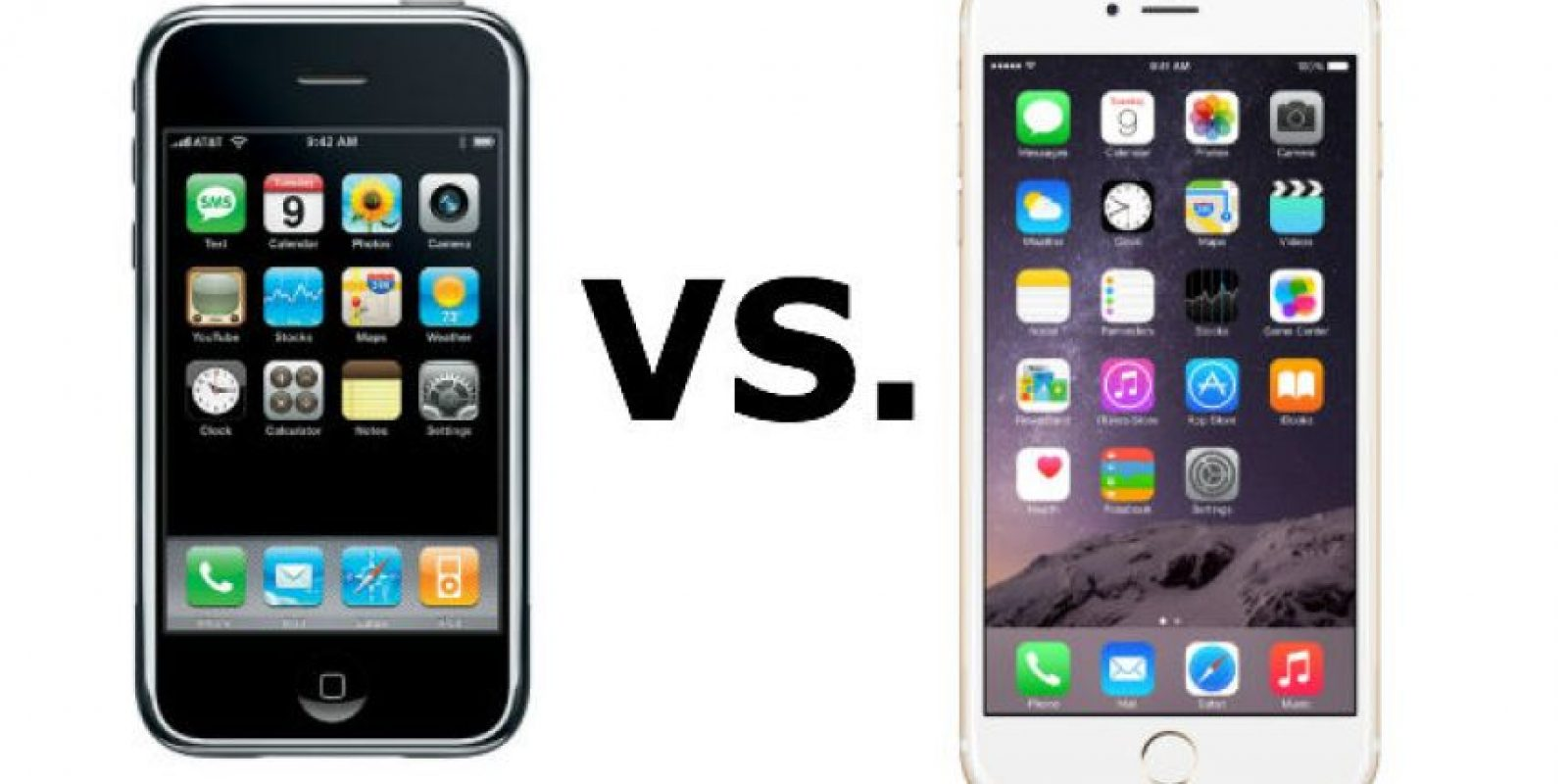 iOS 3 vs. iOS 8 Foto: Apple