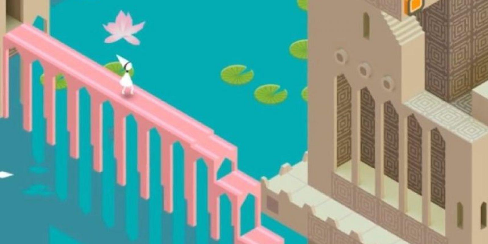 """La princesa en uno de los niveles de """"Monument Valley"""". Foto:ustwo"""