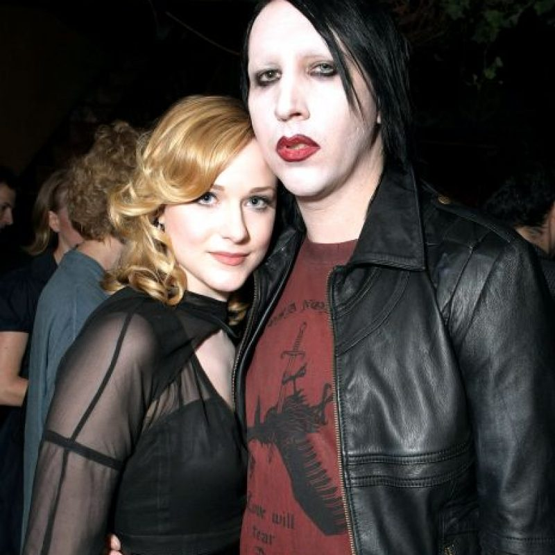 Evan Rachel Wood y Marilyn Manson Foto:Agencias