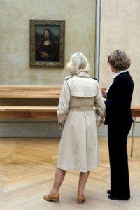 La pintura es un óleo sobre tabla de álamo de 77 x 53 cm. Foto:Getty Image