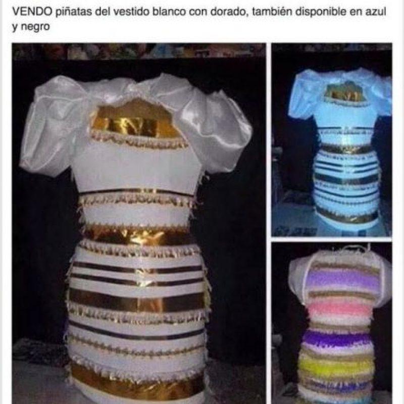 Alguien inventó las piñatas de #TheDress Foto:Twitter