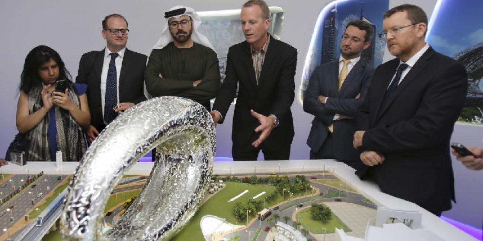 Durante la presentación del proyecto. Foto:AP