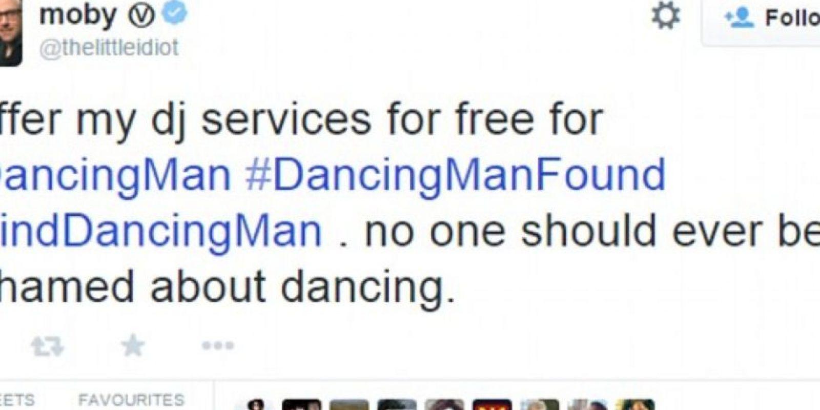 Lo mismo pasó con Moby. Decidió ofrecer sus servicios de DJ Foto:Twitter