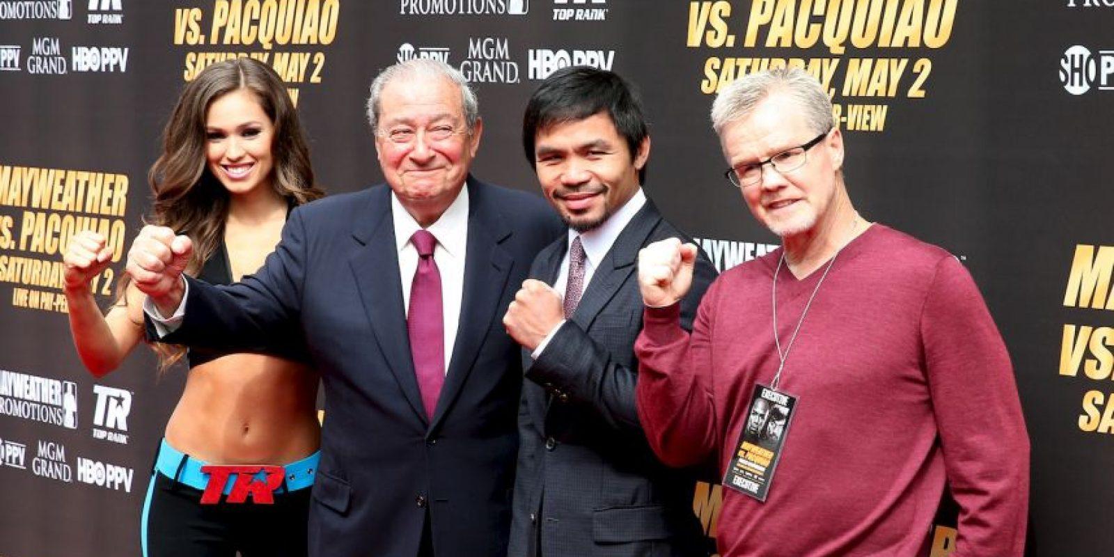 Bob Arum, Manny y Freddie Rouch Foto:Getty Images