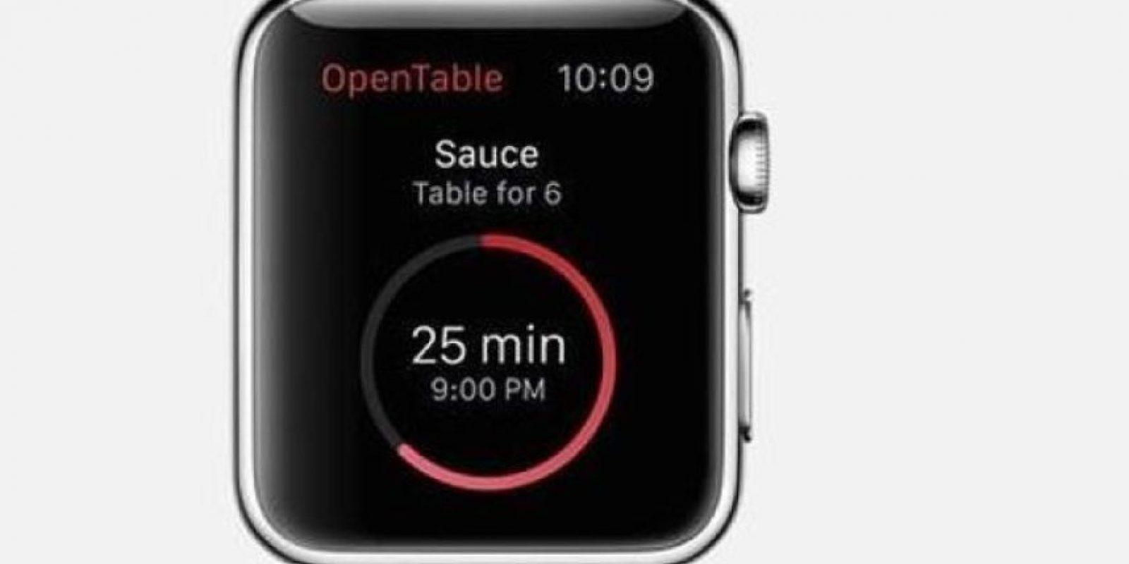 OpenTable: Consultar reservaciones en restaurantes y llegar hasta ahí mediante la guía de los mapas. Foto:Apple