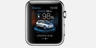 BMW i Remote: Es posible recibir notificaciones de carga de un vehículo eléctrico, recibir avisos y hasta comprobar si la puerta está correctamente cerrada. Foto:Apple