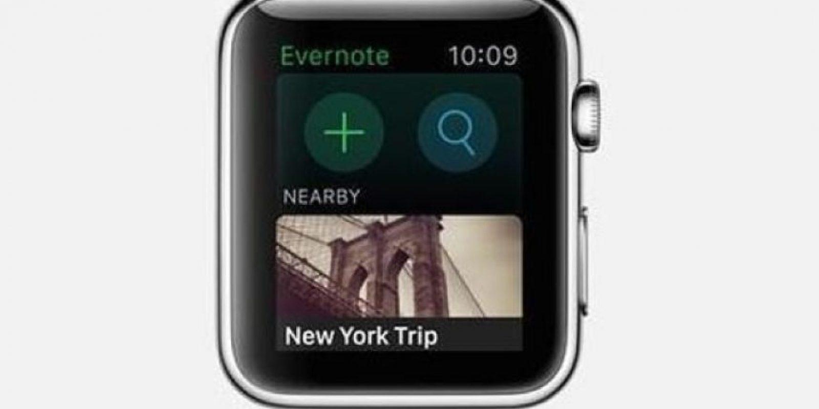 Evernote: Podrán dictar notas rápidas, consultar notas guardadas, agregar recordatorios, entre otras cosas más. Foto:Apple