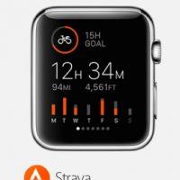 Strava: Estadísticas en tiempo real de distancia, tiempo, rutas, frecuencia cardiaca, entre otras. Foto:Apple