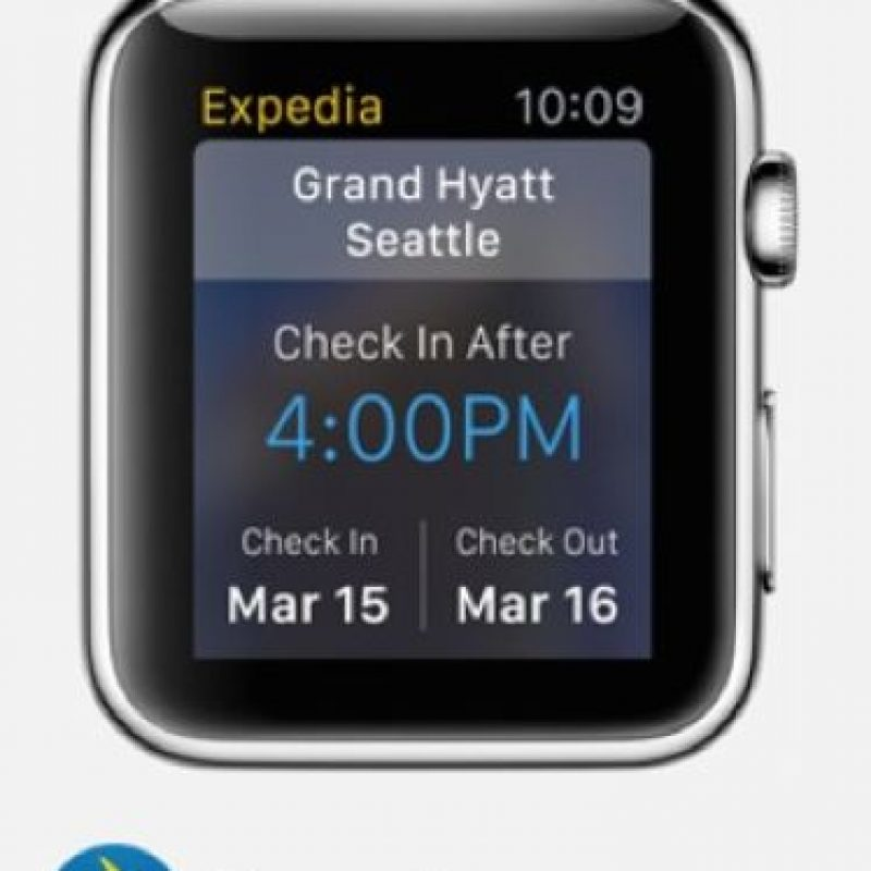 Expedia: Podrán consultar sus itinerarios de vuelos y reservaciones de hotel para que siempre estén a tiempo. Foto:Apple