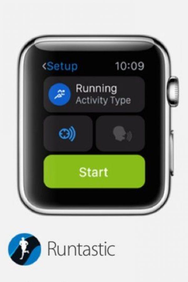 Runtastic: Les muestra toda la información que necesitan mientras se entrenan, incluyendo ritmo, velocidad, distancia, ritmo, calorías quemadas, entre otras. Foto:Apple