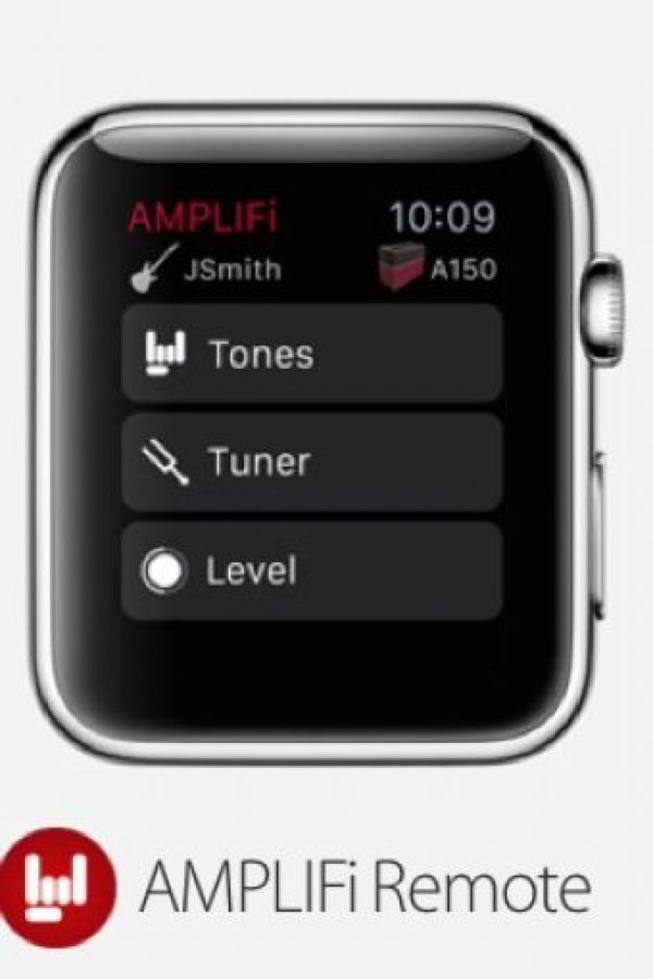 AMPLIFi Remote: Es posible conectar el iPhone con su amplificador de guitarra y afinar el instrumento musical con el Apple Watch. Foto: Apple
