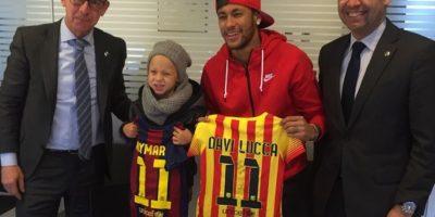 También comparte actividades con Luca, como hacerse socios del Barcelona. Foto:instagram.com/neymarjr