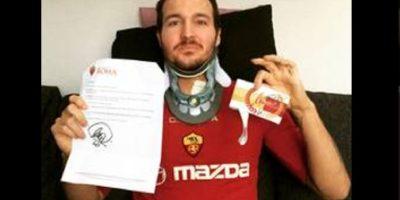 Un aficionado recibió en el hospital los ánimos de Francesco Totti
