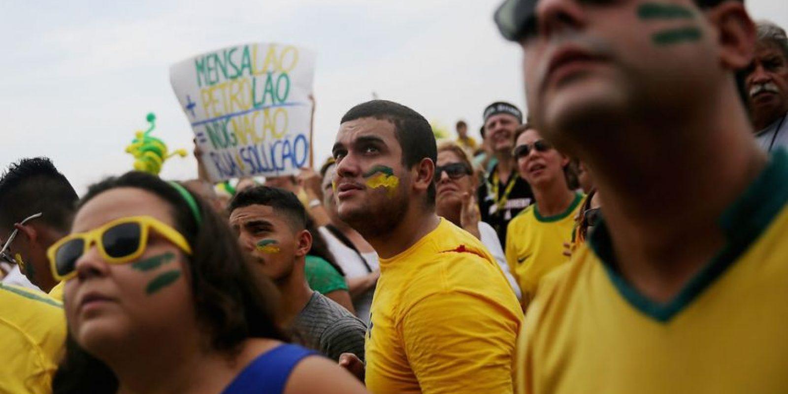 Más de un millón de brasileños salieron a las calles. Foto:Getty Images