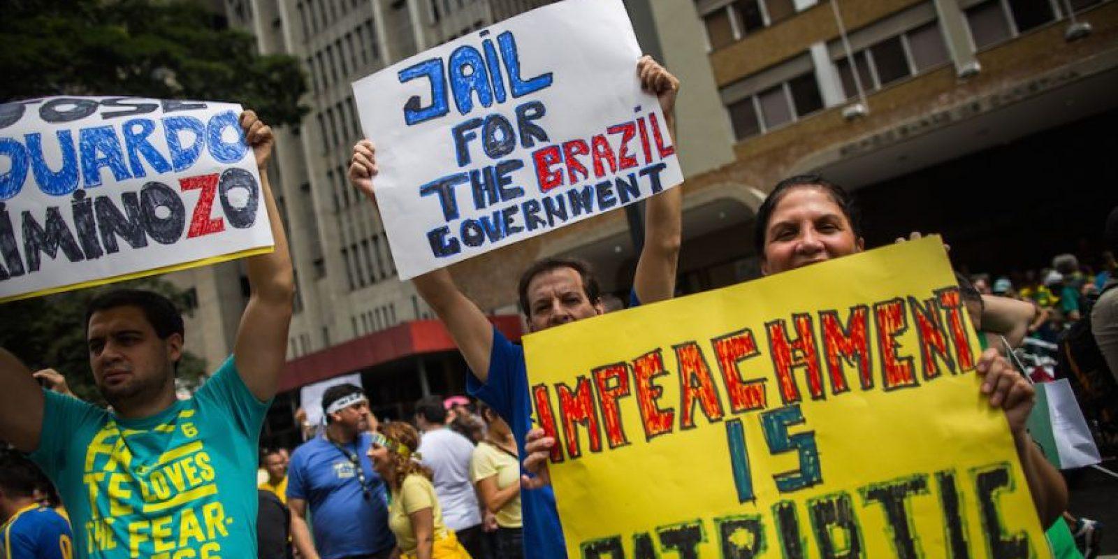 Exigen la destitución de la presidenta Dilma Rousseff y su gobierno. Foto:Getty Images
