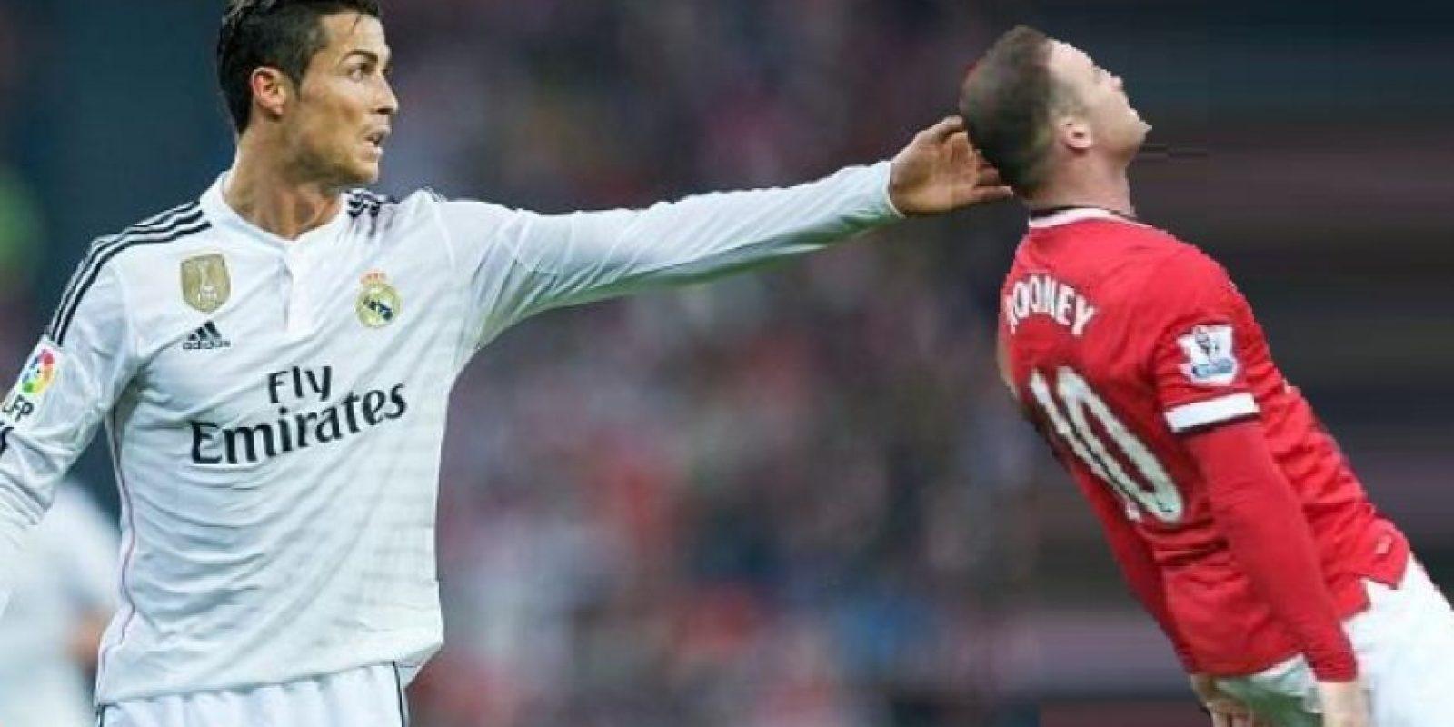 Cristiano Ronaldo haciendo de las suyas. Foto:Twitter