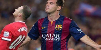 El desmayo de Rooney ante Messi. Foto:Twitter