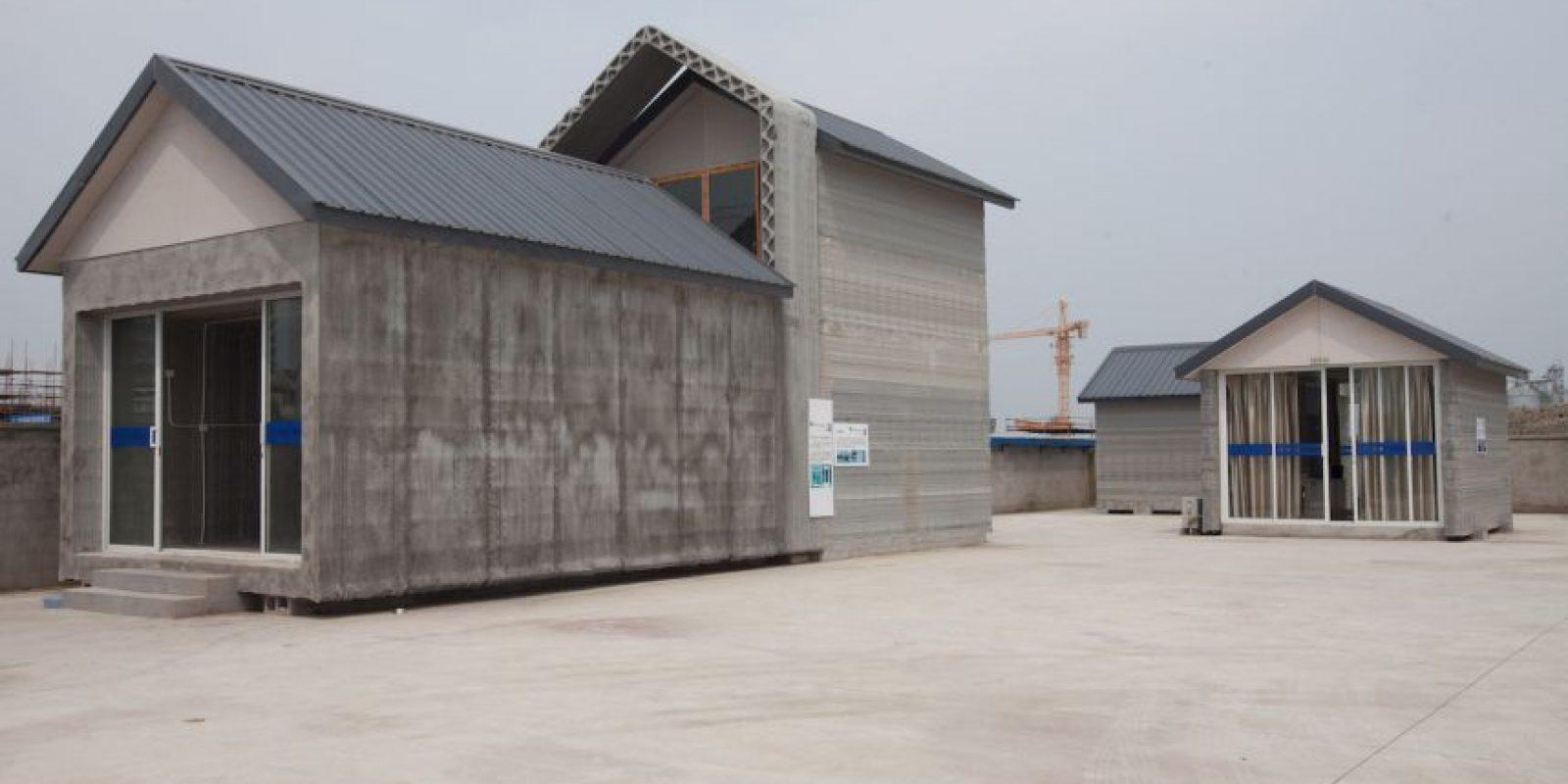 Éstas son las casas que una empresa china fabrica con ayuda de la inmpresión 3D Foto:Getty