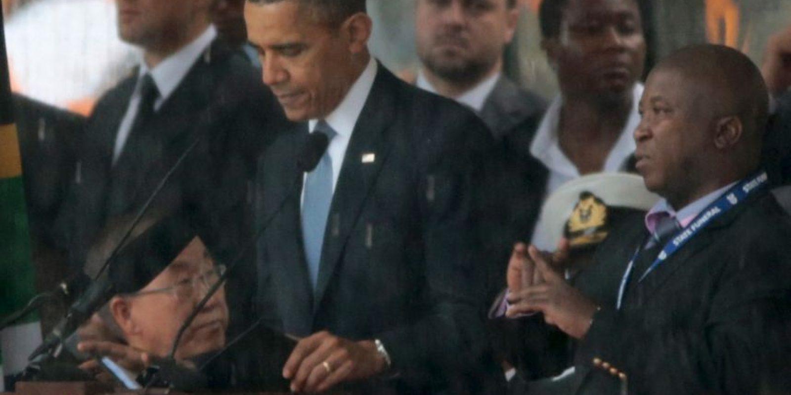 """El """"falso"""" intérprete de señas del funeral de Nelson Mandela Foto:Getty Images"""