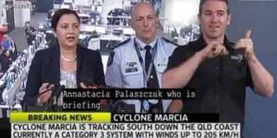 Intérprete de lenguaje de señas del canal ABC 24 Foto:Twitter