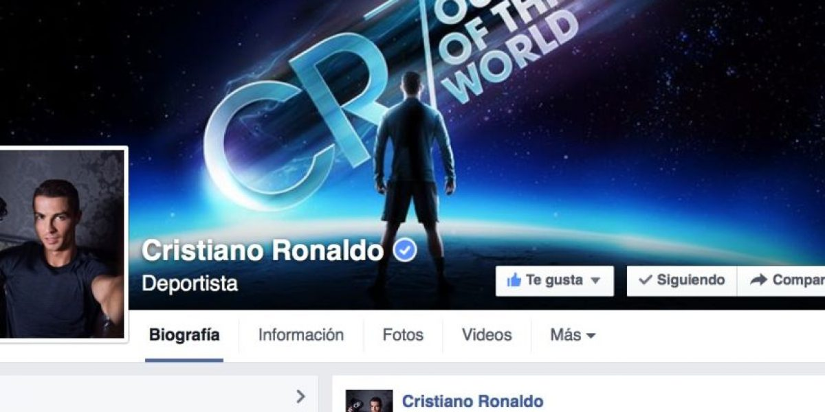 Cristiano Ronaldo, la personalidad con más seguidores en Facebook