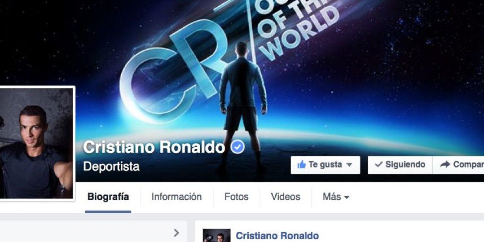 Cristiano Ronaldo es el rey de Facebook con más de 107 millones de seguidores. Foto:facebook.com/Cristiano