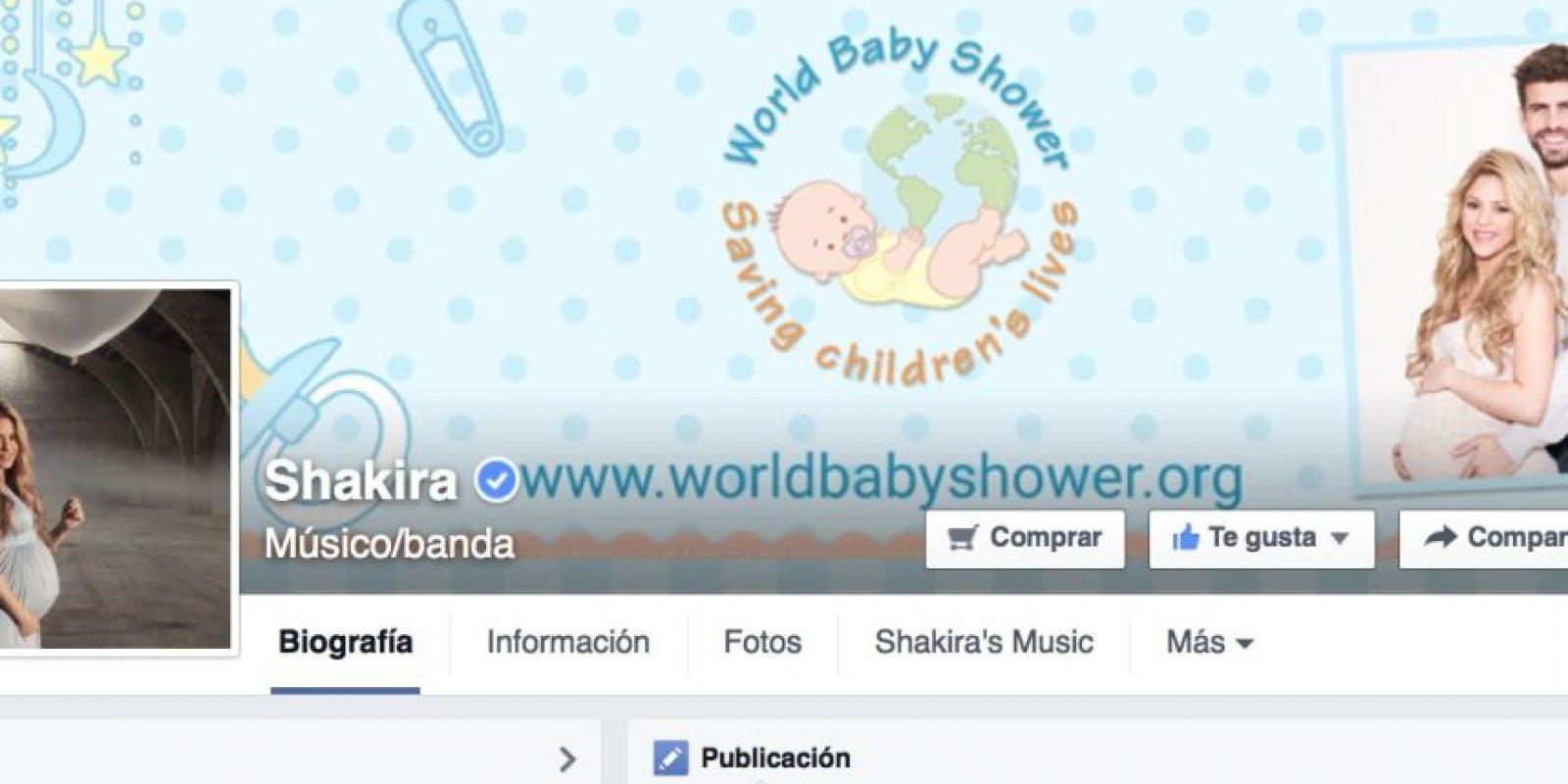 La cantante colombiana Shakira es el segundo lugar en seguidores, a menos de 70 mil del portugués. Foto:facebook.com/shakira