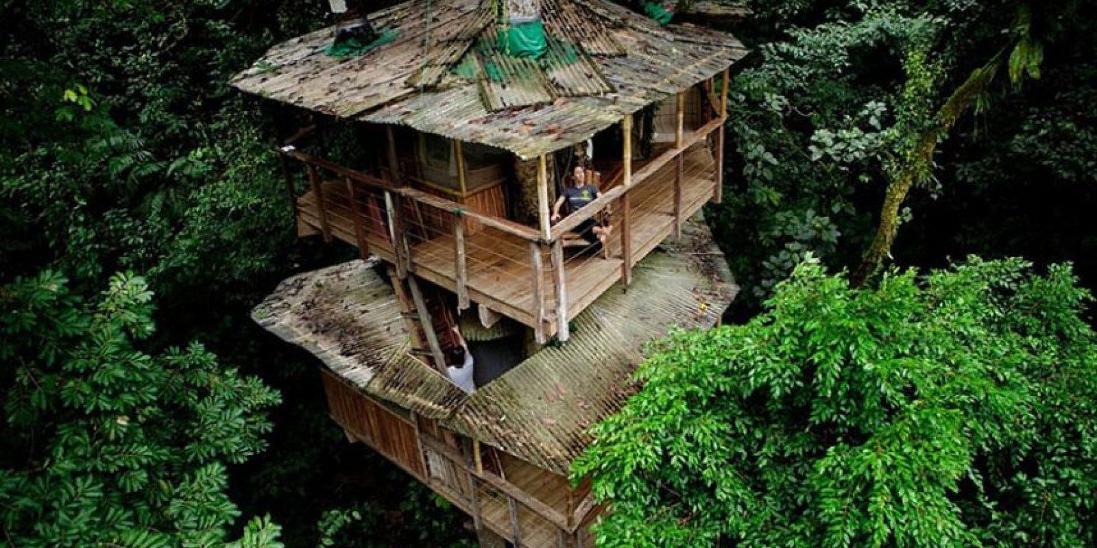 Esta casa del árbol es una parte de la comunidad treehouse Finca Bellavista, auto-sostenible y respetuosa con el medio ambiente en Costa Rica. Toda la propiedad de la comunidad ahora ocupa más de 600 hectáreas, y está todo conectado por puentes colgantes! Foto:architecturendesign.net