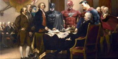 FOTOS. Superhéroes y villanos se meten en pinturas famosas