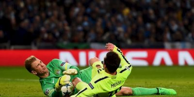 Joe Hart atajó un penal a Lionel Messi en los minutos finales Foto:Getty Images
