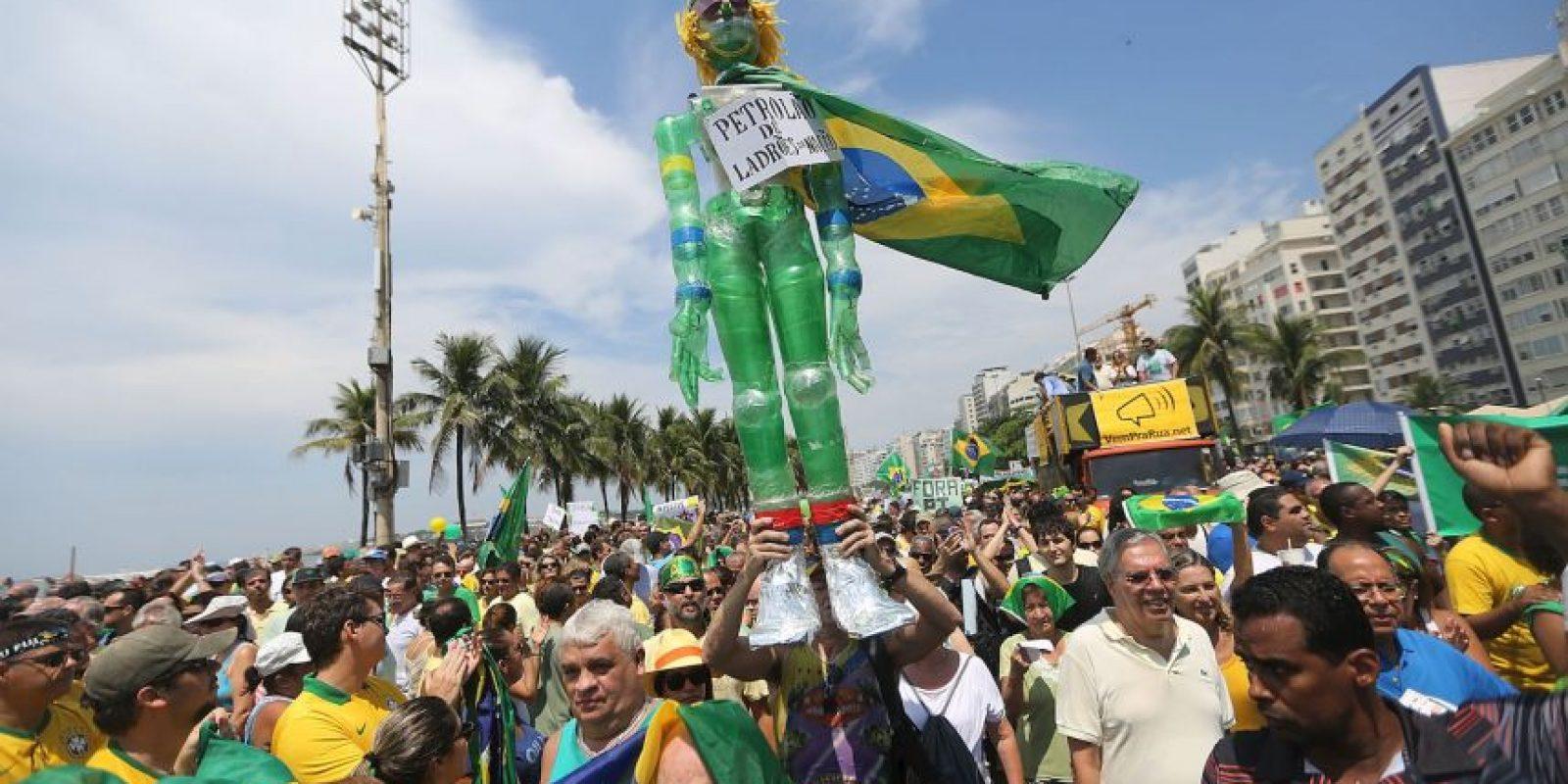 Los datos indican que el 47% de las personas que estuvieron en la Avenida Paulista, una de las principales de São Paulo, estaban motivadas por la lucha contra la corrupción. Foto:Getty Images