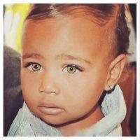 Noth West con ojos verdes Foto:Instagram @kimkardashian