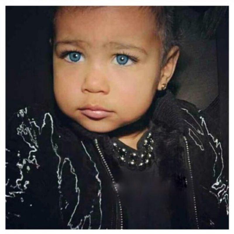 North West con ojos azules Foto:Instagram @kimkardashian