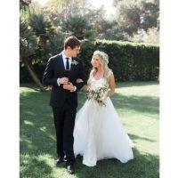 La ceremonía se realizó en privado en una villa de Santa Bárbara, en California.