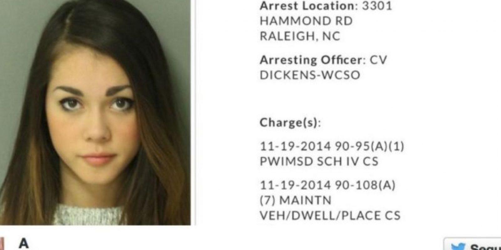 Alysa Bathrick fue arrestada por posesión de Xánax Foto:Twitter