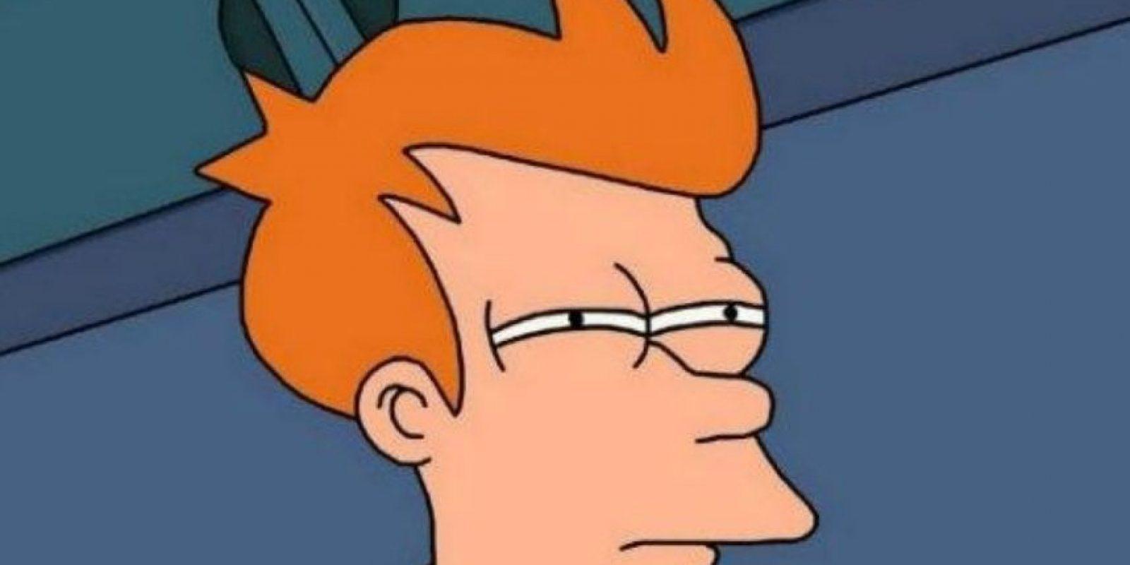Este meme de Fry se usa para dudar de la veracidad de cierta publicación. Foto:Meme Generator
