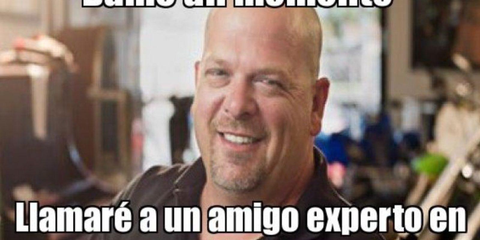 """Rick, experto en tontos: Se originó por el programa """"El Precio de la Historia"""", de History Channel, que salió al aire en 2009. En 2010 ya estaba en la web el meme. Foto:Generador de Memes"""
