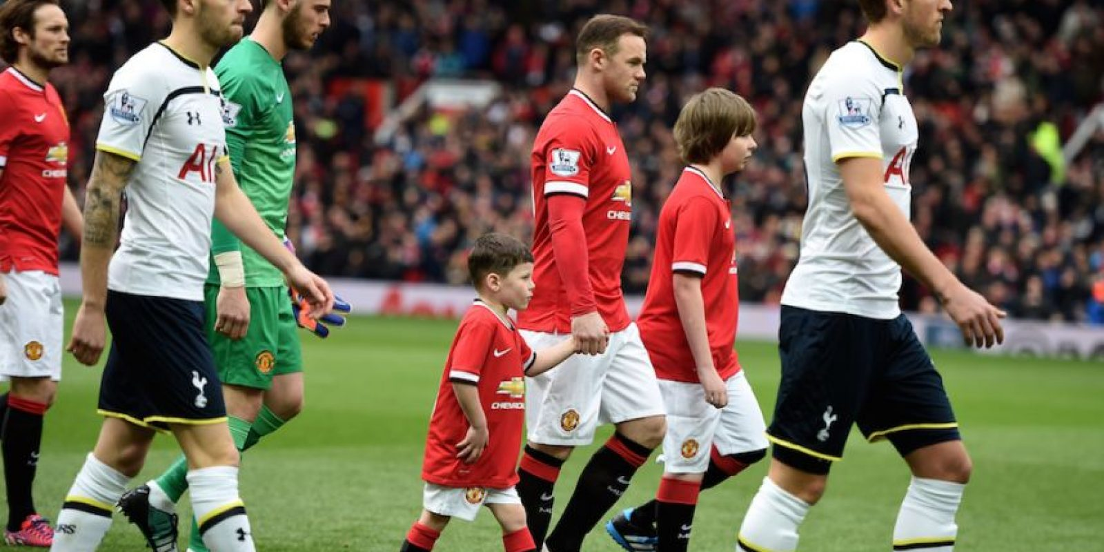 Kai fue mascota en el pasado encuentro del Manchester United. Foto:Getty Images