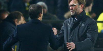 Se despidió del técnico rival en buenos términos. Foto:Getty Images