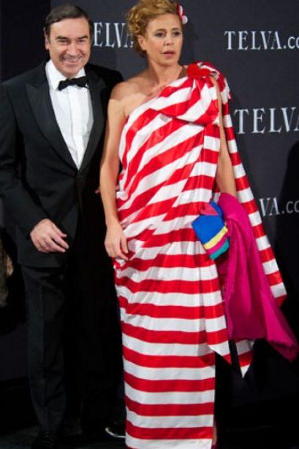 """¿Qué te pasó, Agatha Ruiz de la Prada? ¿Te inspiraste en """"Dónde está Wally""""? Foto:Getty Images"""